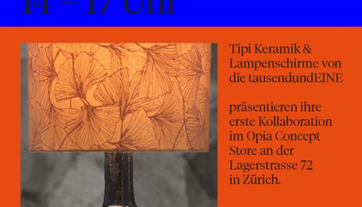 Vernissage Kollaboration Tipi Keramik & die tausendundEINE